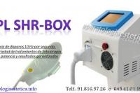 Equipo fotodepilación SHR BOX portátil