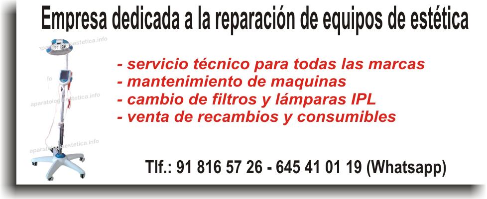 Servicio técnico aparatología estética