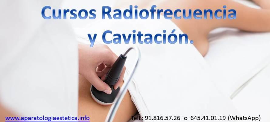 curso radiofrecuencia y cavitación