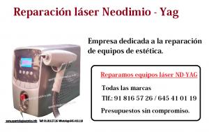 reparación láser nd-yag